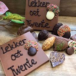 Chocoladerepen met tekst of logo als presentje of bedankje