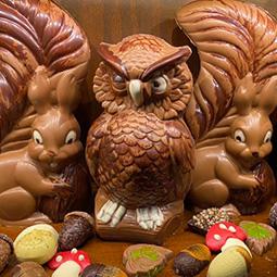 Herfstchocolade - heerlijke bonbons en mooie herfstfiguren