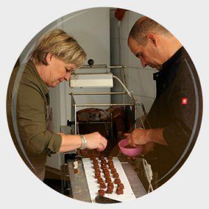 Handgemaakte chocolade door Monique & Tim van Zutphen