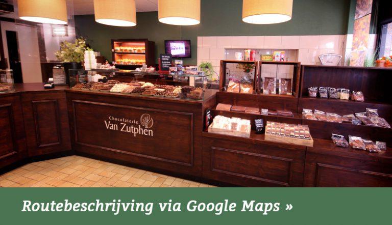 Route naar de chocoladewinkel in Losser, Twente